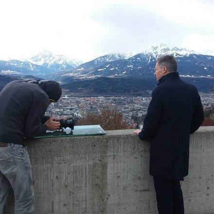 Gregor Leitner Hungerburgbahn Fotoshooting