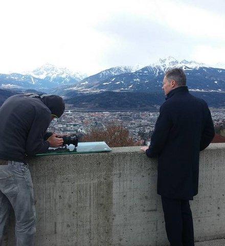 Fotoshooting Gregor Leitner Hungerburgbahn
