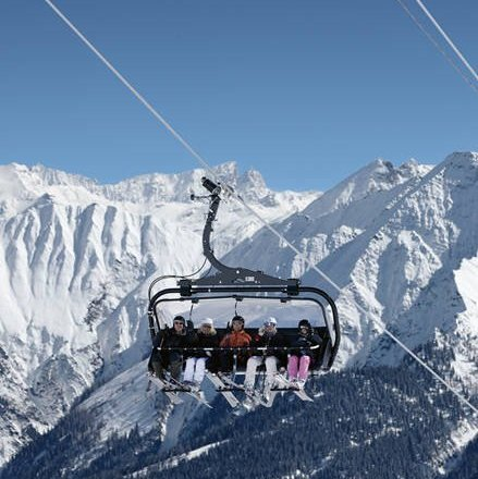 Laax chairlift Switzerland