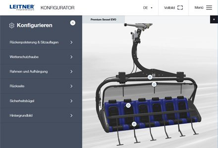 The LEITNER chair configurator