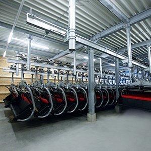 The rail-storage garaging system