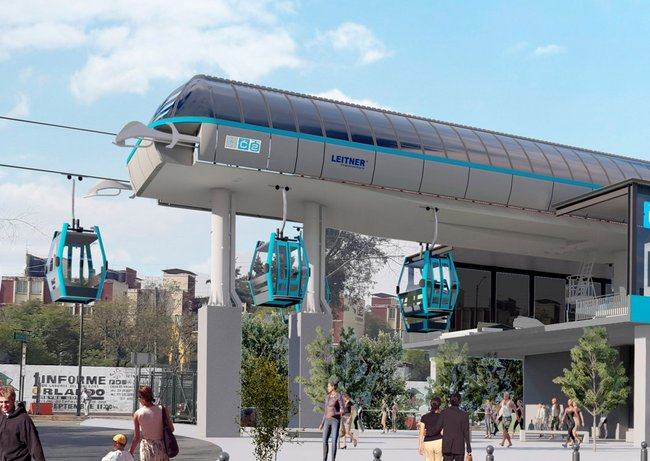 Mexico City extends urban ropeway system
