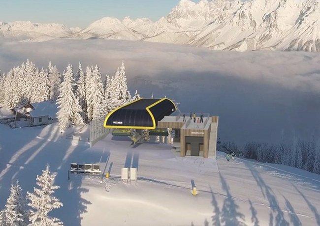 Modernes Bahn-Kraftpaket im Herzen des Skigebiets Planai