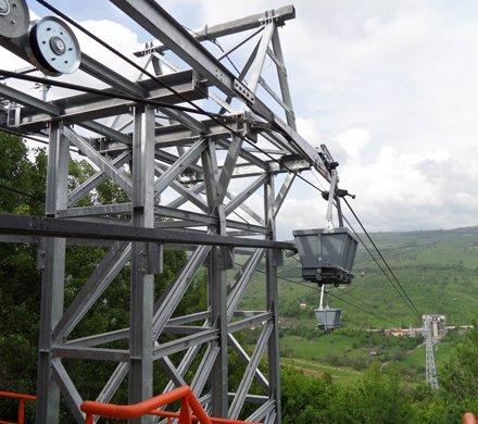 Teleférico para el transporte de materiales - Boteni