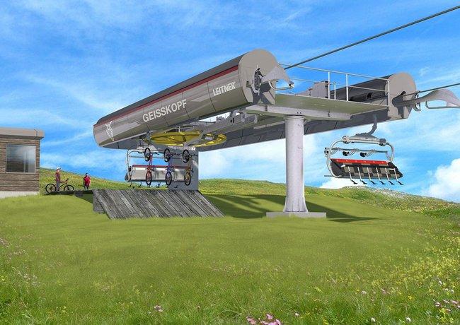 Neue 6er-Sesselbahn auf den Geisskopf im Bayerischen Wald
