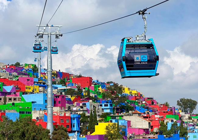 Cablebus 2 gondola lift in Mexico City now in operation