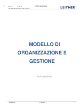 Organizational and administrative model