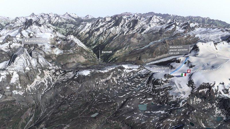 Matterhorn glacier ride 2 overview
