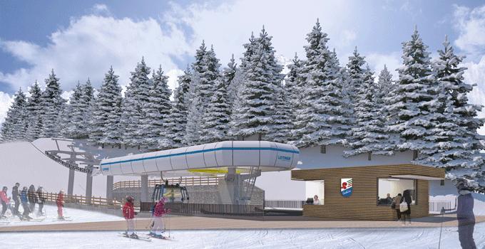 Cortina Cinque Torri estación superior invierno