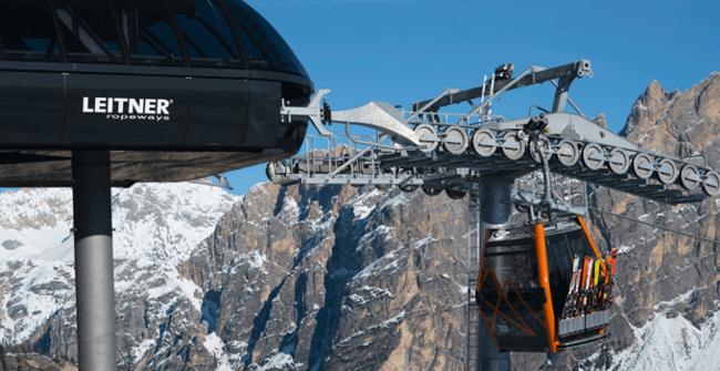 Cortina Freccia nel Cielo Estación e cabina