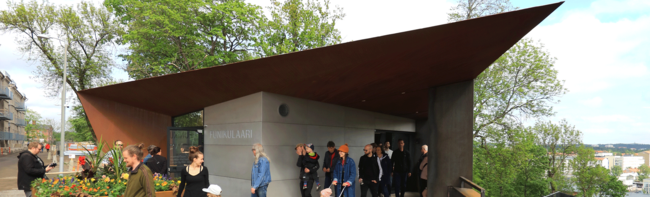 New inclined elevator takes passengers to the top of Turku's former prison hill