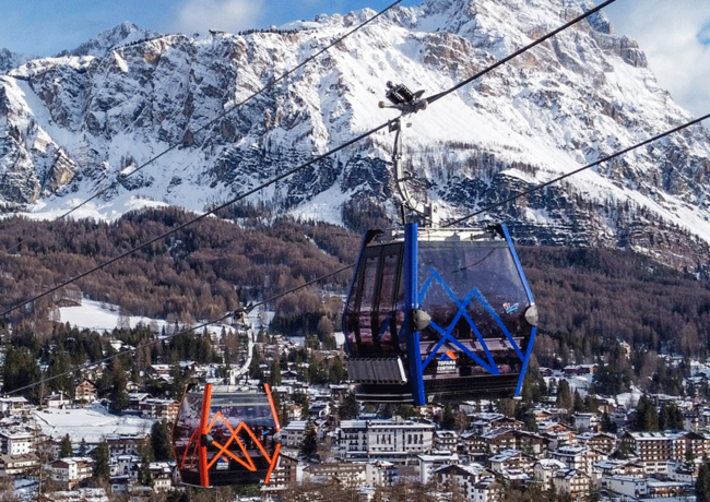 Cortina feiert seine erste Kabinenbahn