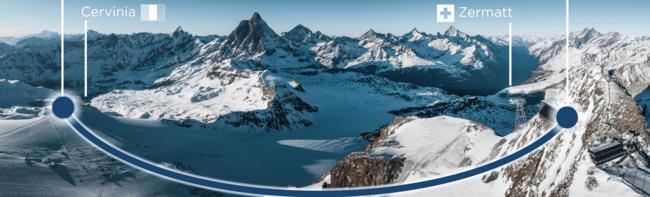 Alpine Crossing zwischen der Schweiz und Italien