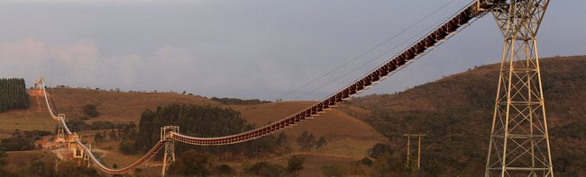 Longest suspended belt conveyor in the world