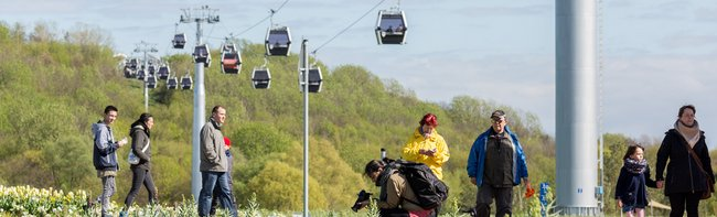 LEITNER ropeways gondola lift a major attraction in Berlin